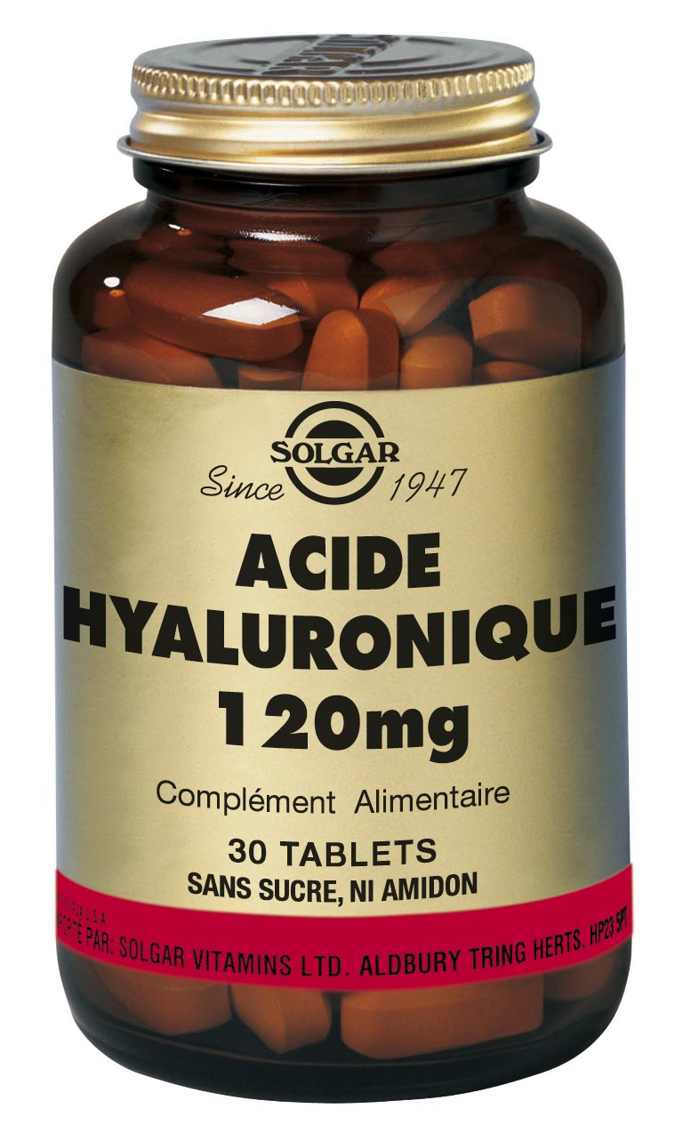 Prix de solgar acide hyaluronique 120 mg - 30 tablettes