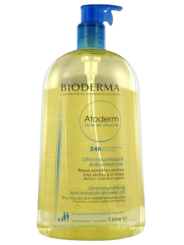 prix de bioderma atoderm huile de douche ultra nourrissante 1 l. Black Bedroom Furniture Sets. Home Design Ideas