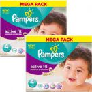 Pampers Active Fit Taille 4 (7-18 kg) 78 Couches
